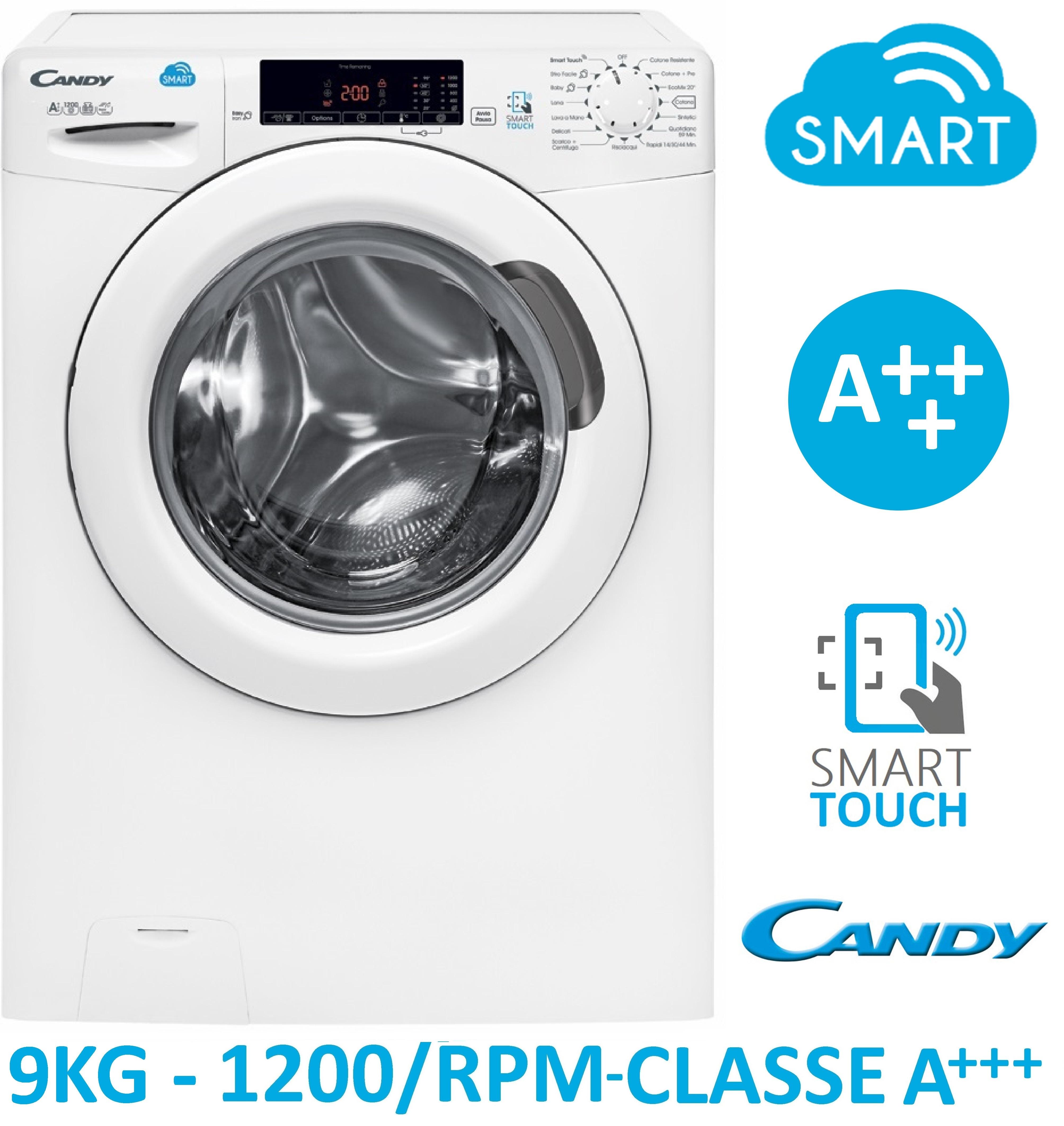 Vendita Lavatrici Usate Bari.Dettagli Su Lavatrice 9 Kg 1200 Giri A Smart Touch Candy Css129t3 01 Farago
